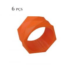 6 Argolas para Guardanapo Geométrica